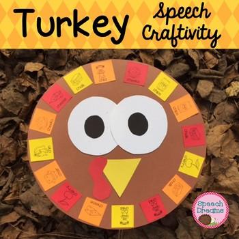 Thanksgiving Turkey Speech Therapy Articulation Craft