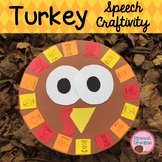 Thanksgiving Turkey Speech Therapy Articulation Language I am thankful for Craft