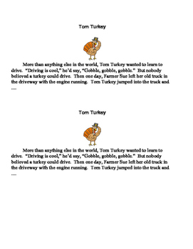 Thanksgiving Turkey Story