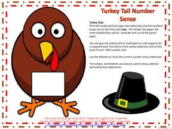 Thanksgiving Turkey Tails Number Sense