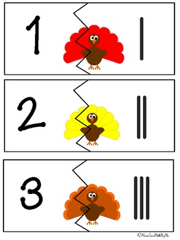 Thanksgiving Turkey Tallies: A Puzzle and Activity Set--B&W set included