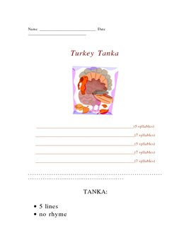 Thanksgiving Turkey Tanka Poetry Form