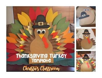 FREE Thanksgiving Turkey Template