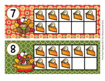 Thanksgiving Turkey Ten Frame Cards
