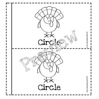 Thanksgiving Turkey Theme 2D Shapes Mini Book