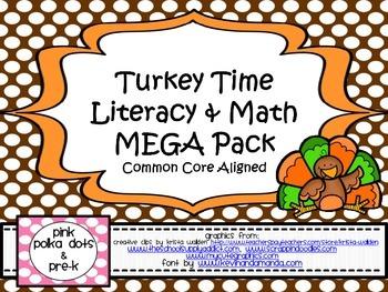 Thanksgiving / Turkey Theme Literacy & Math MEGA Pack