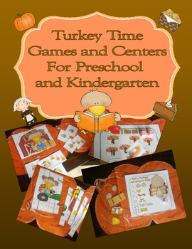 Thanksgiving Turkey Time Math and Literacy Games and Centers