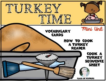 Thanksgiving Turkey Time Mini Unit for Kindergarten and First Grade