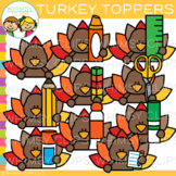 Turkey Toppers Clip Art {Whimsy Clips Thanksgiving Clip Art}