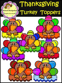 Thanksgiving - Turkey Toppers Clip Art (School Designhcf)