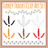 Thanksgiving Turkey Tracks / Foot Prints Clip Art Set for Commercial Use