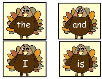 Thanksgiving Turkey Trick Words