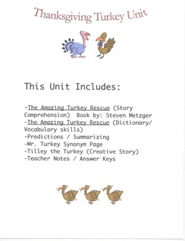 Thanksgiving Turkey Unit