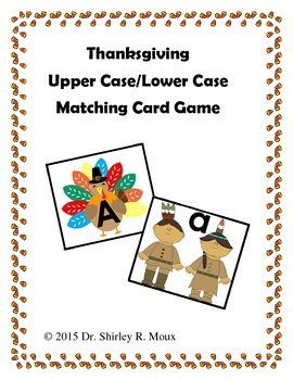 Thanksgiving Turkey Uppercase and Indian Lower Case Match