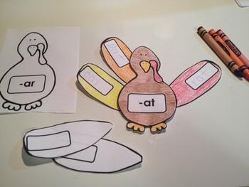 Thanksgiving Turkey - Word Families