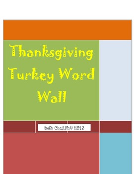 Thanksgiving Turkey Word Wall