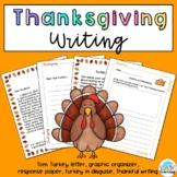 Thanksgiving Turkey Writing Bundle