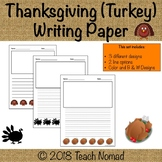 Thanksgiving Turkey Writing Paper