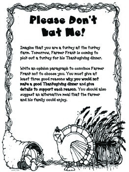 Thanksgiving Turkey Writing Prompts
