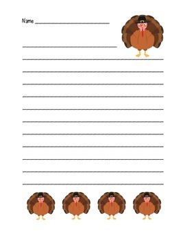 """Thanksgiving Turkey"" Writing Sheets – For Your Common Core Writing! (color)"