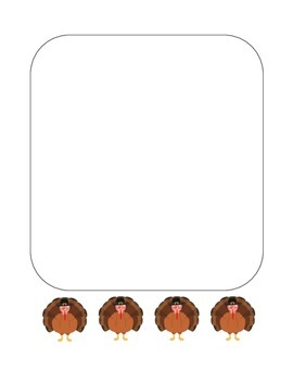 """""""Thanksgiving Turkey"""" Writing Sheets – For Your Common Core Writing! (color)"""