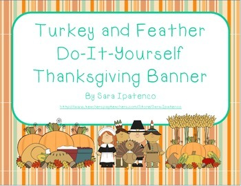 Thanksgiving Turkey and Feather Do-It-Yourself Banner