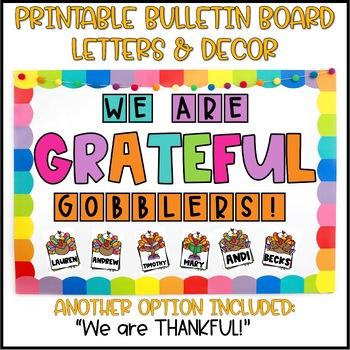 Thanksgiving Turkeys Bulletin Board or Door Decoration