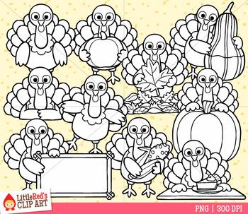 Thanksgiving Turkeys Clip Art