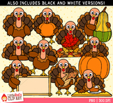 Thanksgiving Turkeys Clip Art