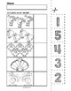 Thanksgiving Turkeys Cut & Match Worksheets   Numbers 1-5