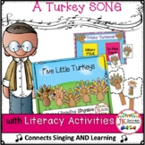Thanksgiving Song & Game! Five Little Turkeys - Singable & SIGHT WORD GAME