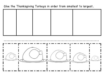 Thanksgiving Turkeys - From Smallest to Largest