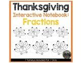 Thanksgiving Turkeys Interactive Notebook: Fractions