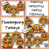 Thanksgiving Turkeys, Matching, Comparing, Sorting & Patterning