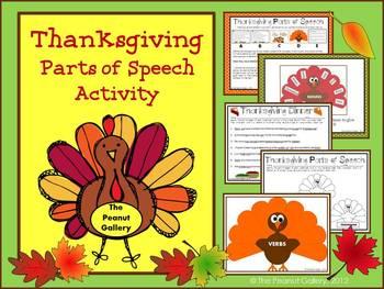 Thanksgiving Turkeys (Parts of Speech Activity)