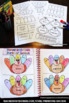 Thanksgiving Grammar ELA Parts of Speech Interactive Notebook Craftivity ESL