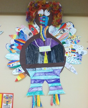 Elementary Art: Thanksgiving Turkeys for your class wall!! Whole class project.
