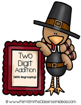 Thanksgiving Math Quick and Easy to Prep Center Two Digit