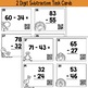 Thanksgiving Two Digit Subtraction with Regrouping Task Cards Optional QR Codes