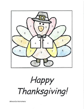 Thanksgiving Two Step Equations Color by Numbers