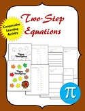 Thanksgiving Two-Step Equations Cooperative Learning Activity