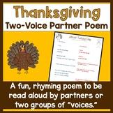 Thanksgiving Two Voice Partner Poem
