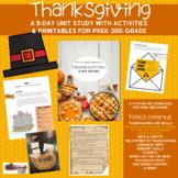 Thanksgiving Unit 5 Day Unit Study