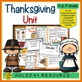 Thanksgiving Unit: Activities & Centers