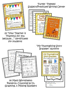 Thanksgiving Unit Games and Activities