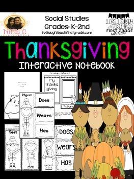 Thanksgiving Unit- Interactive Notebook