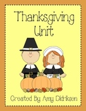 Thanksgiving Unit: Literacy and Math Activities About the First Thanksgiving