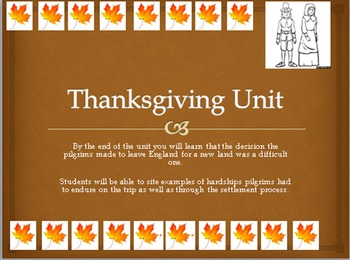 Thanksgiving Unit: Voyage of the Pilgrims (Common Core)