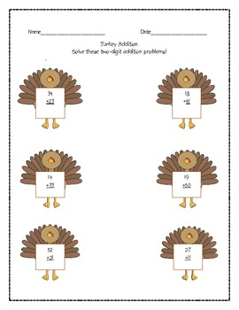 Thanksgiving Unit Worksheets