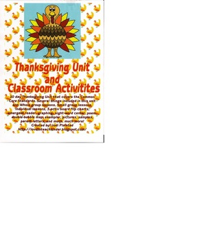 Thanksgiving Unit and Activities